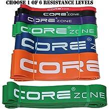 [Bandes de résistance]–Corezone Pull Up Assist Band | stretch Bande de résistance | mobilité Band | d'haltérophilie Bandes | Extra durable et top Rated Traction Assist Bandes–Band ou simple–par Corezone
