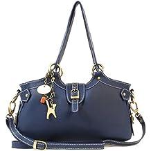 c24eefd95b3a0 Catwalk Collection Handbags - Leder - Umhängetasche Schultertasche -  Handtasche mit Schultergurt - NICOLE