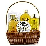 Argan Oil - Corbeille de Bain - 6 Pièces, Coffret Cadeau-Coffret de bain