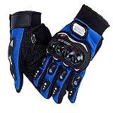 HOMEIDOL Motorrad Handschuhe, Motorradhandschuhe Touchscreen Sport Vollfinger Handschuhe für Motorrad Radfahren Camping Outdoor (XXL, Blau)