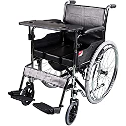 WYJJJJJ Fauteuil Roulant Multifonctionnel âgé, avec la Salle de Bains/Se Pliant/Le vélo handicapé/Portable/Voyage/Le Scooter, Le Fauteuil Roulant léger 21.2Kg, Alliage d'aluminium