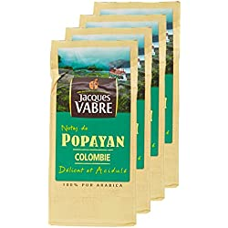 JACQUES VABRE Café Origine Popayán Moulu 250g - Lot de 4