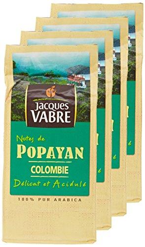 JACQUES VABRE Café Origine Popayán Moulu 250g - Lot de 4