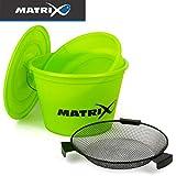 Fox Matrix Lime Bucket Set - Ködereimer für Grundfutter zum Stippangeln & Feederangeln, Eimer für...