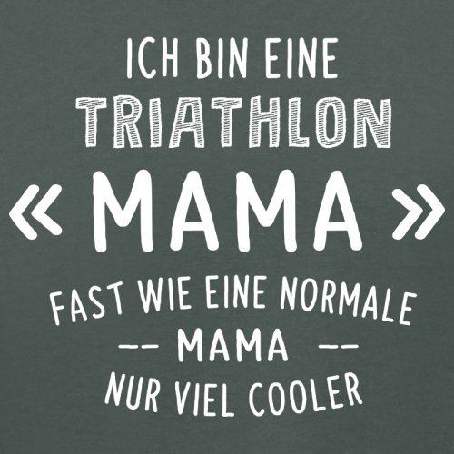 Ich bin eine Triathlon Mama - Damen T-Shirt - 14 Farben Dunkelgrau