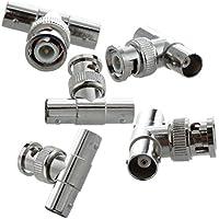 SODIAL(R)5 x Conector coaxial RF BNC 1 macho clavija a 2 jack hembra de forma T de CCTV