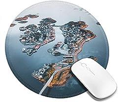 Idea Regalo - Tappetino per mouse rotondo Inter-Island Pattern di collegamento Tappetino per mouse in gomma antiscivolo Gioco Tappetino per mouse Notebook per computer 7,9x7,9 pollici