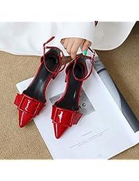 9fd39877 Yukun zapatos de tacón alto Zapatos De Hadas del Otoño Salvaje Charol  Cinturón De Hebilla De