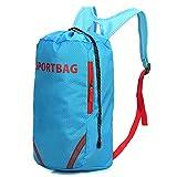 YU XIN Unisex Kordelzug Rucksack Gym Sack Gym Tasche für Erwachsene Sport Tasche, blau