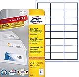 Avery Zweckform 6172 Adressetiketten (A4, 600 Plus 120 Etiketten extra, 64,6 x 33,8 mm) 30 Blatt, weiß