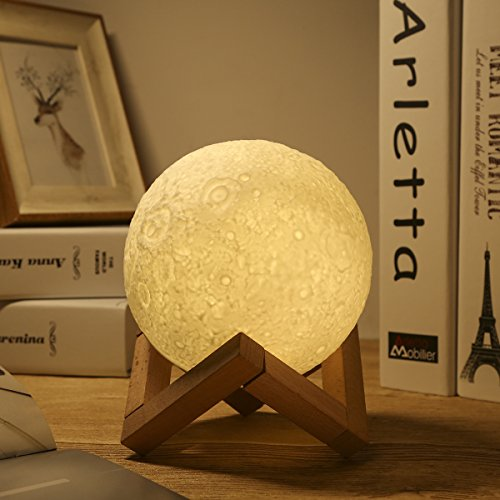 Lámpara de Luna,Temperatura de Tres Colores, Control Táctil Inteligente