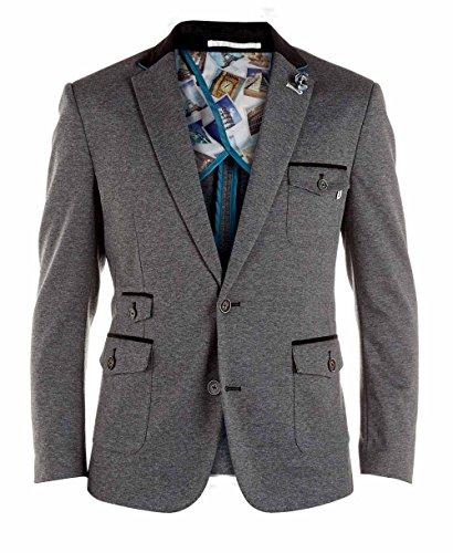 Duke D555 Pour Hommes Grand King Size Haut Man Trenton Veste Blazer Trenton - Veste - Gris