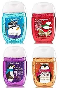 Bath & Body Works PocketBac Hand Gel Holiday Traditions 4pc Bundle by Bath & Body Works