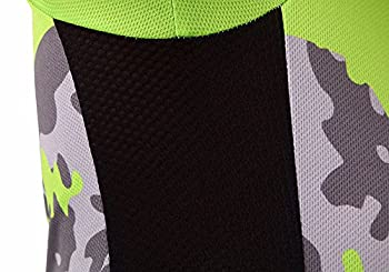 Lskcsh Camo Damen Fahrrad Radfahren Atmungsaktiv Schnell Trocknend Trikots Set Bike Jersey Zyklus Kurzarm Jacke 4d Kissen Gepolsterte Engen Shorts Hosen (Einstellen, M) 3