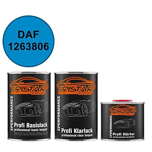 TRISTARcolor Autolack Set Dose spritzfertig DAF 1263806 Blauw Basislack + 2K Klarlack 2,5L