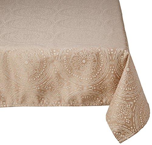 LOVELY CASA Kolam Nappe, Polyester, Lin, 140 x 140 cm