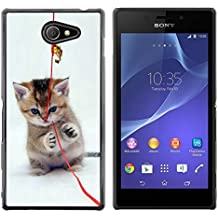 STPlus Bonito gato Gatito Animal Carcasa Funda Rigida Para Sony Xperia M2