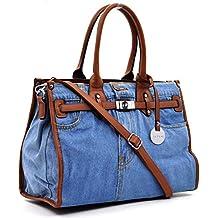 723ccf545f borsa MADE ITALY donna unico colore passeggio ricamata tempo libero  particolare capiente grande KELLY BIRKIN spalla