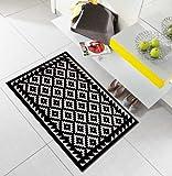 Salonloewe Fußmatte waschbar Tabuk Black & White 75x120 cm SLD0616-075x120