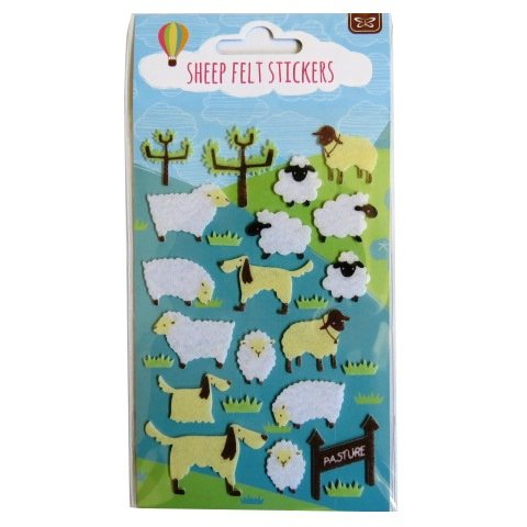 Schaf fühlte Aufkleber - Erstellen Sie Ihre eigene Szene - Kunst, Handwerk, Raumdekoration (Eigenen Erstellen Sie Aufkleber Ihre)