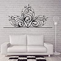 Beautiful Delicate Floral Decorative Wall Stickers Home Decor Living Room Sofa Bed Background Vinyl Bedroom Decal
