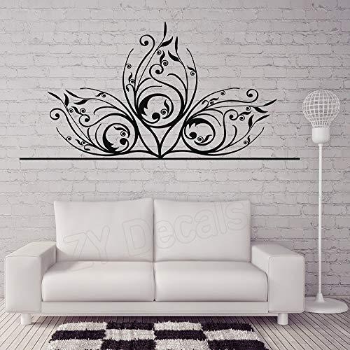 Hermosas pegatinas de pared decorativas florales delicadas decoración del hogar sala de...