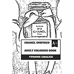 Chanel Inspired Adult Coloring Book: Fashion and Jewelry, Fashion Queen Coco Chanel and Luxury Inspired Adult Coloring Book