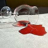 Sensalux, 5 Stehtischüberwürfe / die preisgünstige Alternative zur Husse, (nicht genäht) abwischbar - (Farbe nach Wahl), Tischdurchmesser 60-70 cm, Überwurf weiß Schleifenband bordeaux -