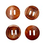 #10: Imported 25Pcs Wooden Round Buttons for Sewing Scrapbooking Craft