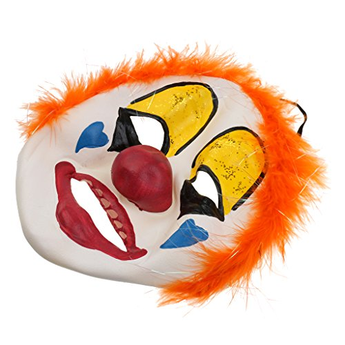 MagiDeal Horror Clown Maske Latex Maske Halloween Karneval Kostüm Fasching Party - Dumme Joker