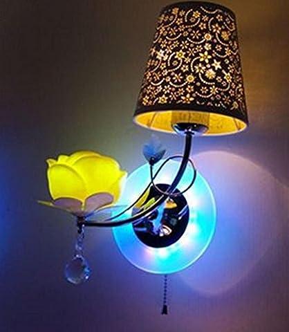 Petal Lampe Ziehen Linie E14 Eisen Led Schlafzimmer Wandleuchte Kreative Moderne Wandleuchte (Durchmesser 280 Hoch 460Mm) , 2