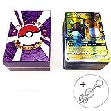 Jeux de Carte 120 Pièces Jeux De Cartes Pokemon Cartes Style EX Art Complet 80 Cartes EX 20 Cartes Méga EX 20 Cartes GX 1 Énergie Carte Puzzle Jeu De Cartes