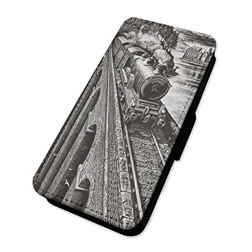 Hogwarts Express treno Wizard – Flip cover in pelle copertura di carta Apple Iphone X