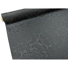 Confección Saymi - Metraje 0,50 mts. tejido Raso Ref. Damasco, color Negro, con ancho 2,80 mts.