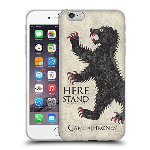 Offizielle HBO Game Of Thrones Stark House Mottos Soft Gel Hülle für Apple iPhone 7 / iPhone 8 Mormont