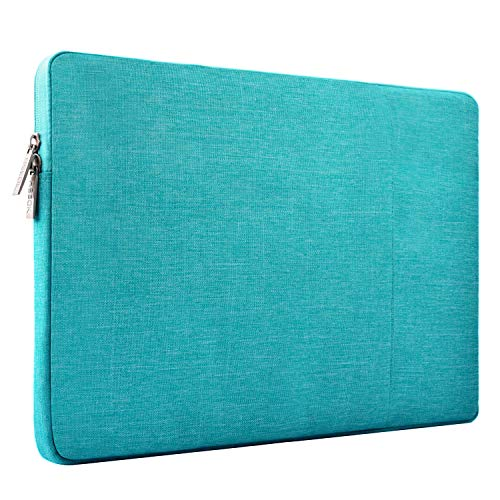 HSEOK 15,6 Pouces Housse de Protection Ordinateur Portable, Laptop Sleeve Case PC Netbook Ultrabook Sacoche Compatible 15-15,6 Pouces pour MacBook Acer ASUS Dell Lenovo HP Toshiba,Bleu de Lin