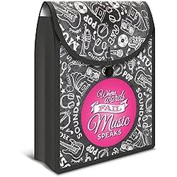 Herma Boîte de classement Aspirateur Flexibag pour DIN A4Cahier et chemises (Organiseur de sac à dos) noir/rose
