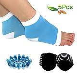 HLYOON H02 Kit di 5 pz. con massaggiatore per piedi per fasciti plantari, cuscinetti di sostegno per arco plantare e caviglia, calzini con tallone in silicone
