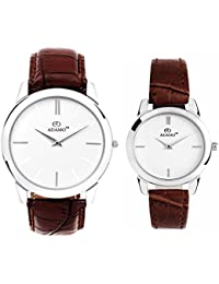 Adamo Analogue White Dial Men'S And Women'S Watch-Ad6472Br01