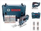 Bosch GST 18 V-Li B Professional Akku Stichsäge Solo in L-Boxx (06015A6101) + 20x Stichsägeblätter Holz/Metall