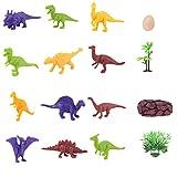 Mini Dinosaur Model Toys Dinosauro Giocattoli Fun Toys Animal Figures Rifornimenti del partito per bambini Dinosauri in plastica Assorted Color One Set of 12Pcs