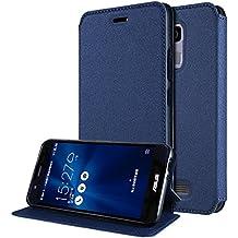 """Funda Asus Zenfone 3 Max 5.2 Flip Cover , ivencase Ultra-thin Prima Suave TPU Protector Stand Flip Silicona Tapa para Asus Zenfone 3 Max ZC520TL 5.2"""" Azul"""
