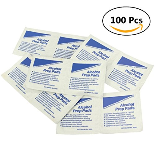 ungfu-mall-100pcs-first-aid-alcohol-prep-pads-wipes-sterile-antiseptic-cleanser-cleaning