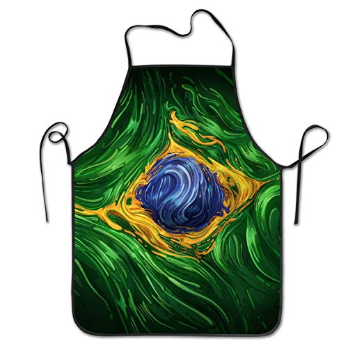 HTETRERW Durable Polyester Apron - Novelty Unisex Brahman Cattle Fabric Farm Ranch Design Waist Bib, Oil Resistant and Washable Apron, Convenient Dog Grooming/Cleaning Fish Anti-Stain Bib Apron (Vereinigte Staaten Von Amerika Kostüm Kinder)
