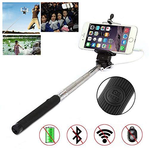 Porum selfie stick per smartphone, cavo handhled monopiede autoritratto monopiede palo, allungabile selfie stick con supporto regolabile per huawei p20pro