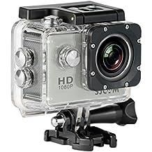 """SJCAM SJ4000 (versión española) - Videocámara deportiva (LCD 2"""", 1080p, 30 fps, sumergible hasta 30m), color plata"""