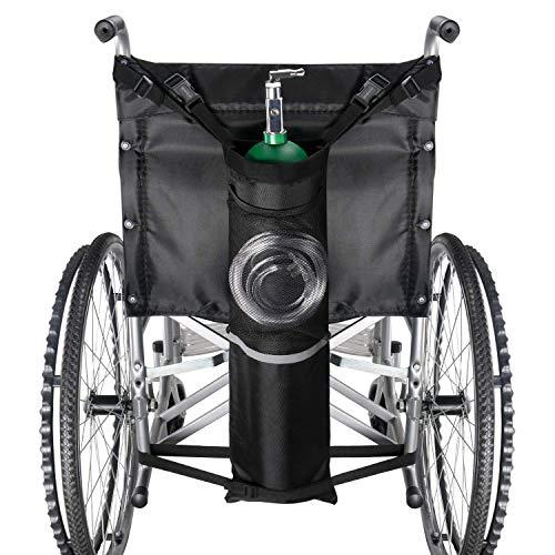 GHzzY Sauerstoffflaschenbeutel für Rollstuhlfahrer und Wanderer - Sauerstofftankhalter mit Aufbewahrungstasche - O2-Tankbeutel für die meisten Sauerstoffflaschen