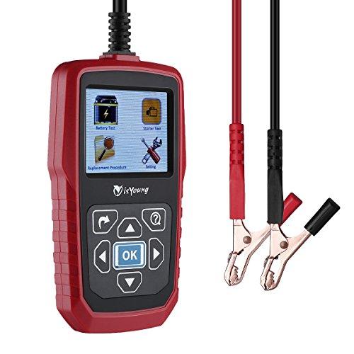 isYoung - Tester di carica per batterie auto, 12e 24 V 100-2000