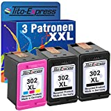 PlatinumSerie® Set 3x Druckerpatrone remanufactured für HP 302 XL Black & Color mit Füllstandsanzeige und 145% mehr Inhalt! Für HP OfficeJet 4650 4650 Series 4654 4655 4656 4657 4658