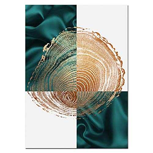 13 Decorative Bar (ZHUANG Dekorative Malerei Leinwandbild Light Golden Plant Modern Minimalistic Poster Und Druck Abstract Nordic Decorative Wall Picture, 13X18Cmnoframe, 01)